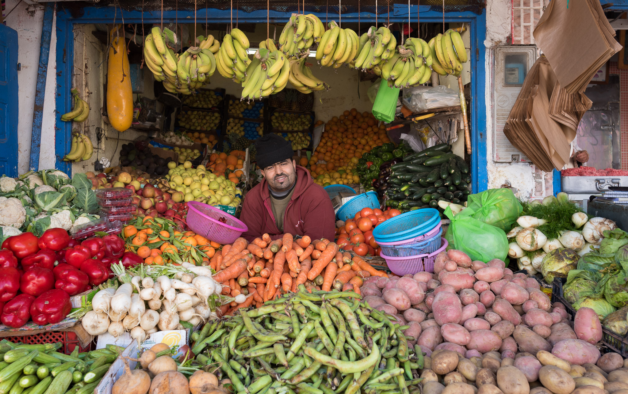 Obstverkäufer in Essaouira